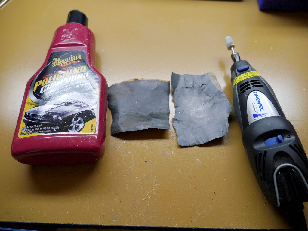 Polishing Compound, Sandpaper, Dremel Tool