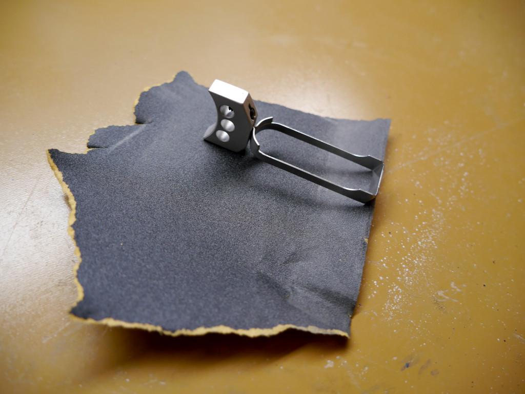 1911 Trigger Sandpaper Fitting