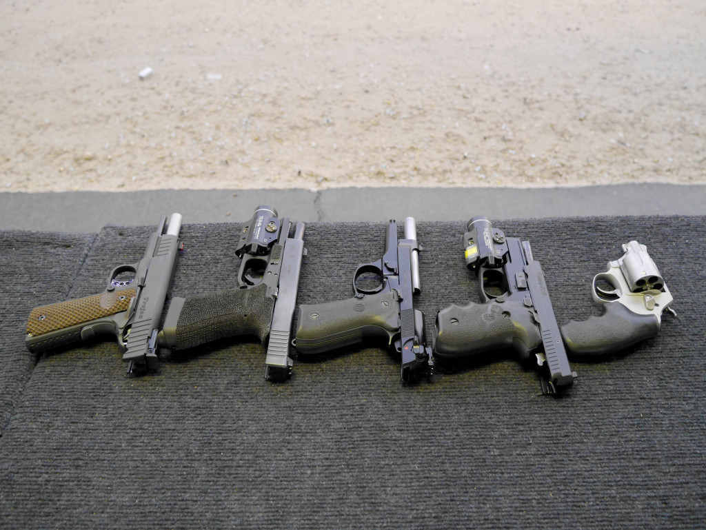 Bunch of Handguns, Actions Open
