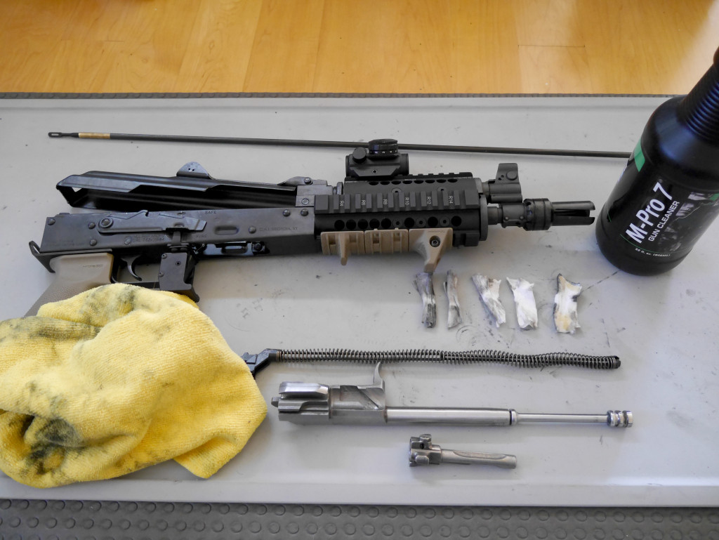 Cleaning Disassembled PAP M92