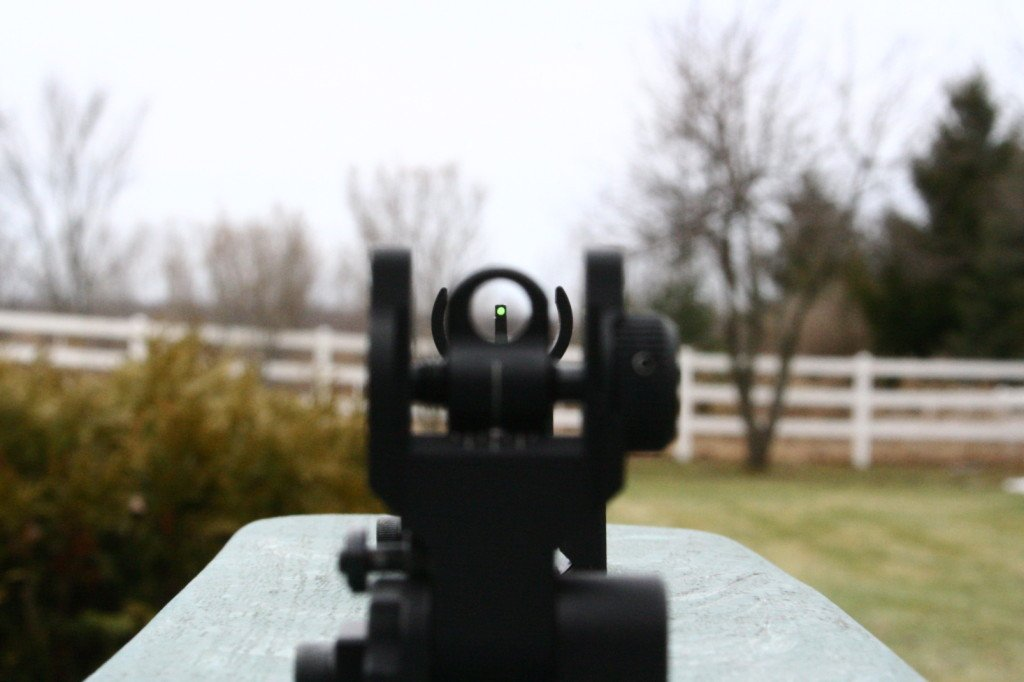Fiber Optic Sights on an AR15