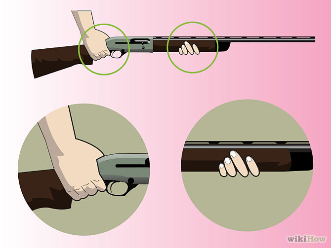 Hold Shotgun, Wikihow