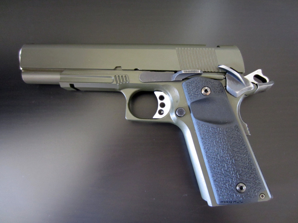 Completed Tactical Machining 1911, minus sights