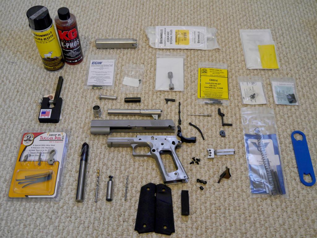 1911 80 Tactical Machining Build Part 3 Parts List