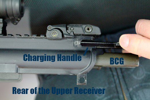 Charging Handle and BCG Labeled
