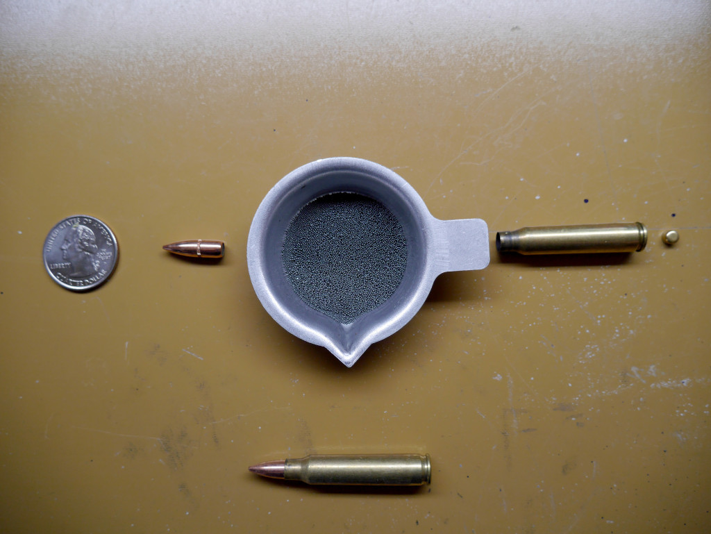 Components of 55 gr 5.56 FMJ