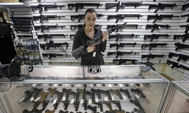 Gun Store Woman