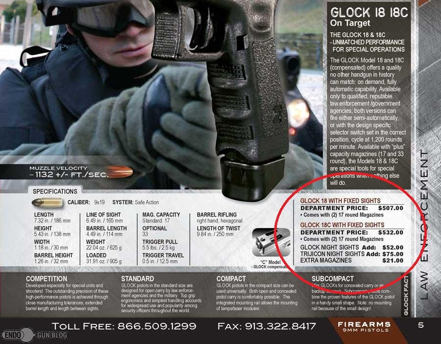 ... Glock 18 For Law Enforcement, Endo