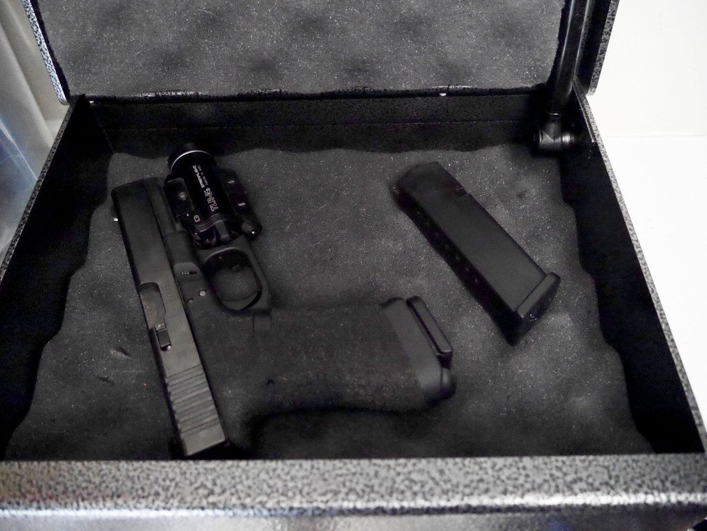 Inside Fort Knox FTK-PB Handgun Safe