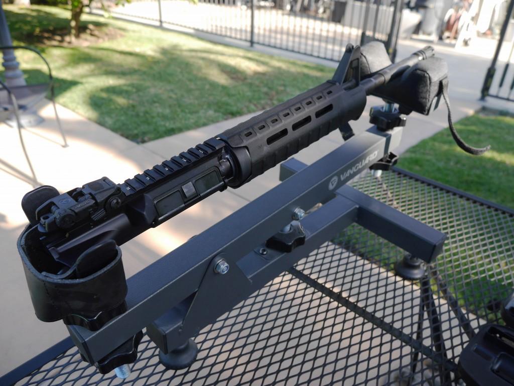 AR-15 Upper in Gun Rest