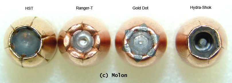 Overhead Hollow Point Comparison, ar15.com Molon