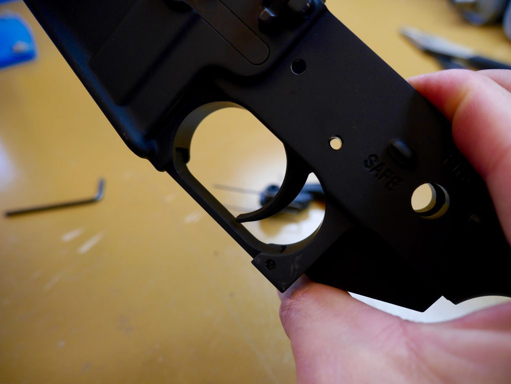 Trigger Hole Through Receiver