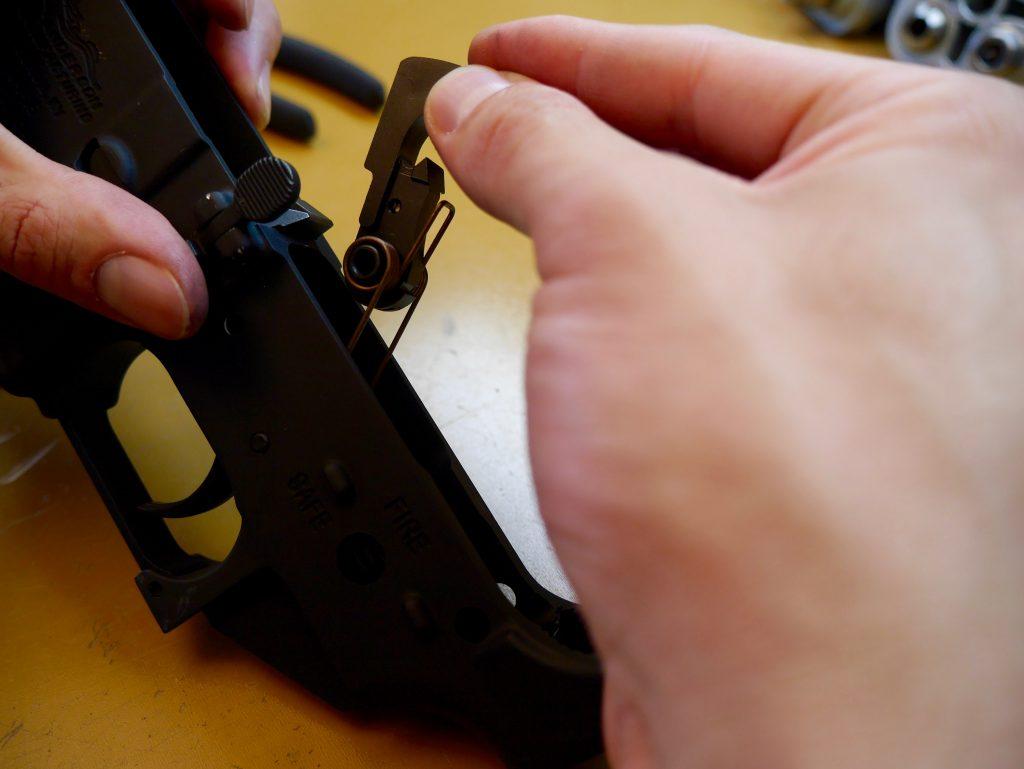 Orientation of Trigger Hammer