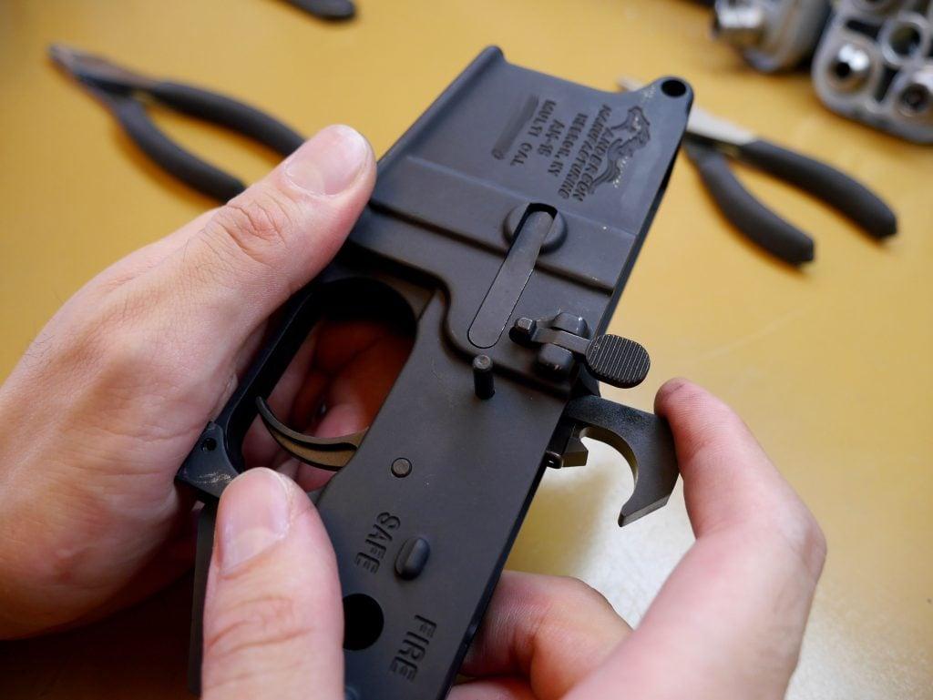 Trigger Hammer Pin Halfway