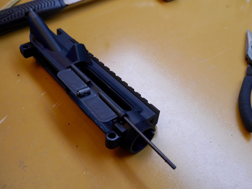 Slide Hinge Pin onto Upper Receiver