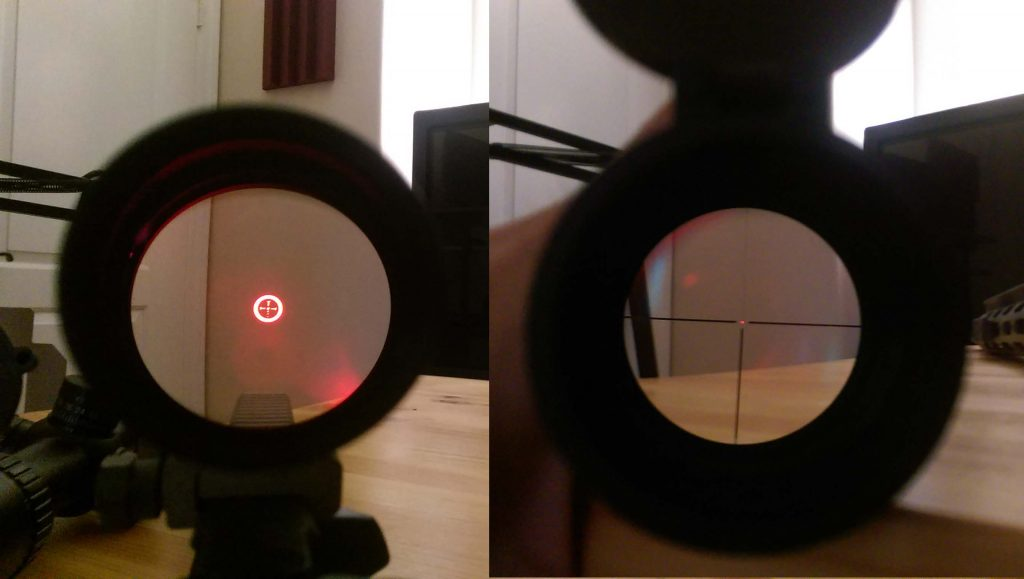 Riton vs Burris TAC30 Illuminated Reticle