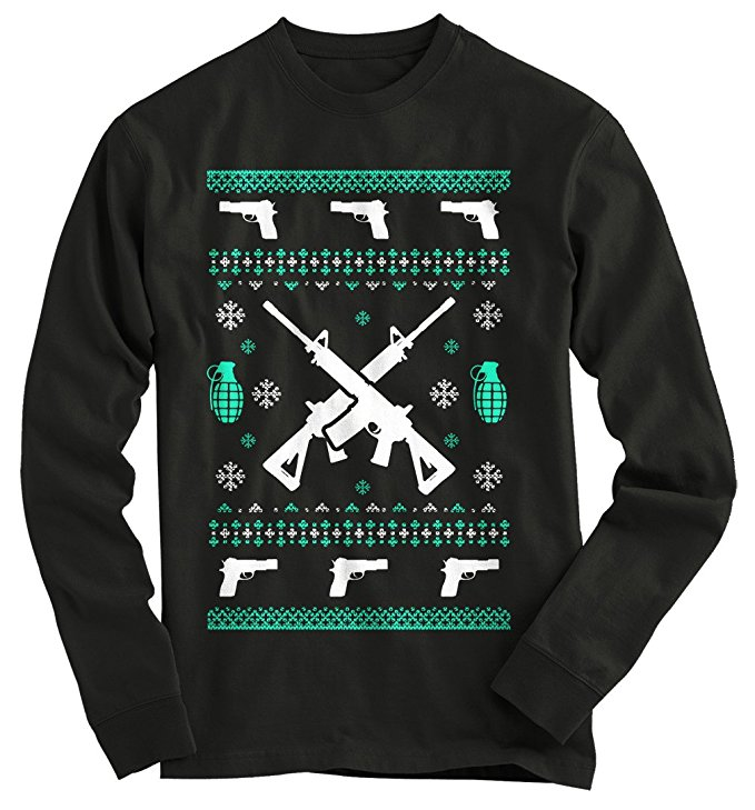 Ugly Gun Christmas Sweater