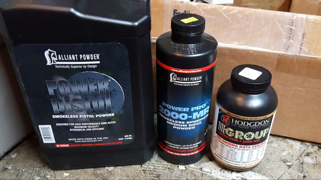 Different Reloading Powders