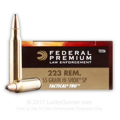 Federal LE Tactical 55 gr SP