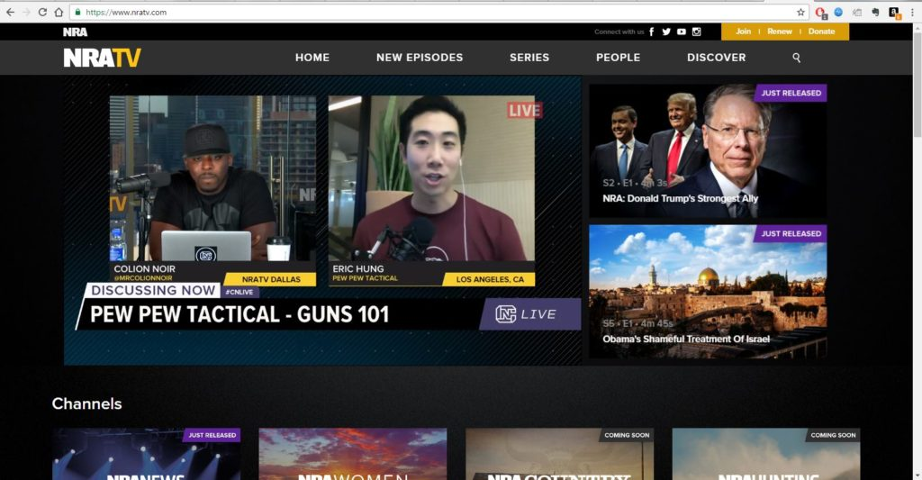 PPT on NRA-TV