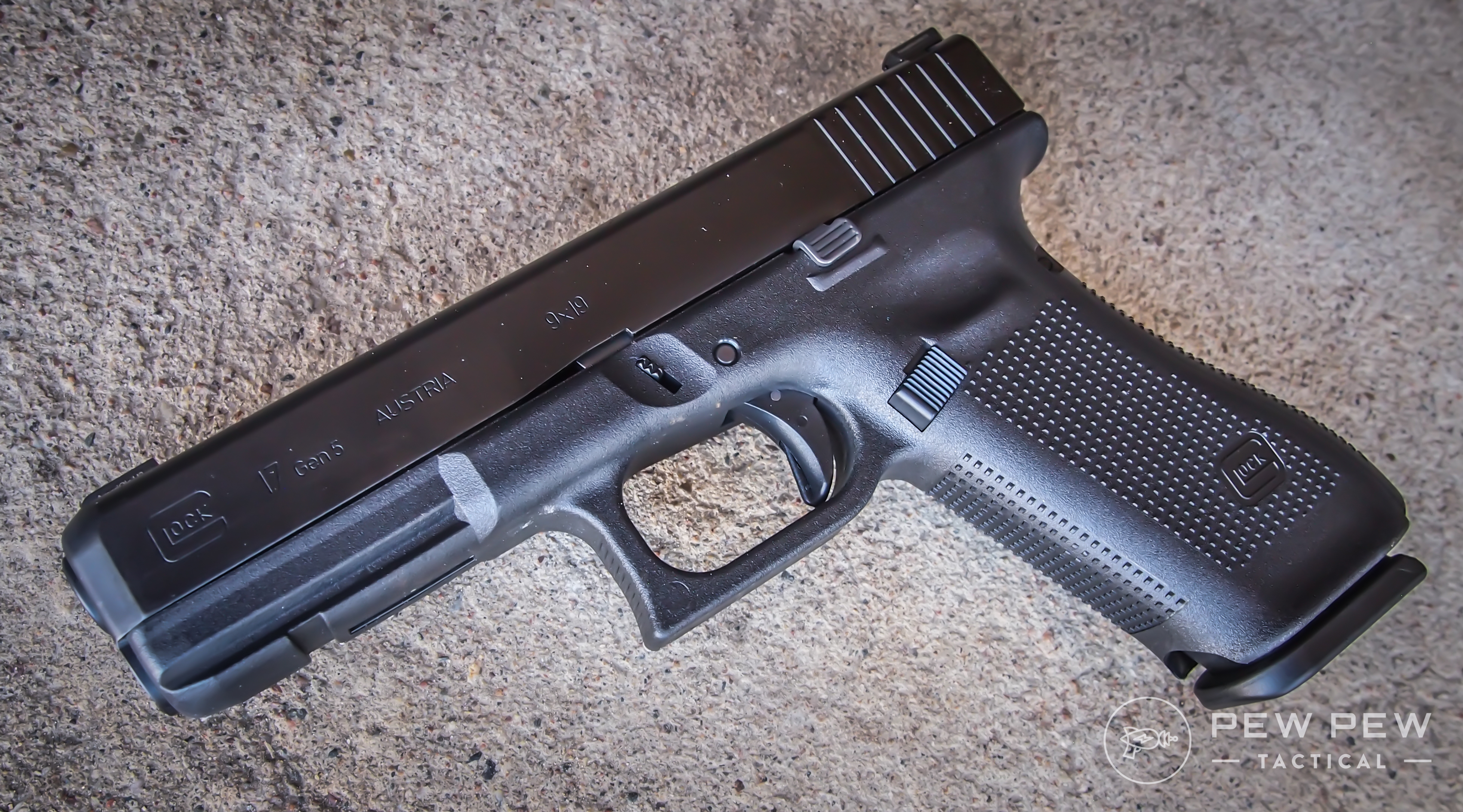 The Glock 17 is the original double-stack 9mm from the Austrian manufacturer.