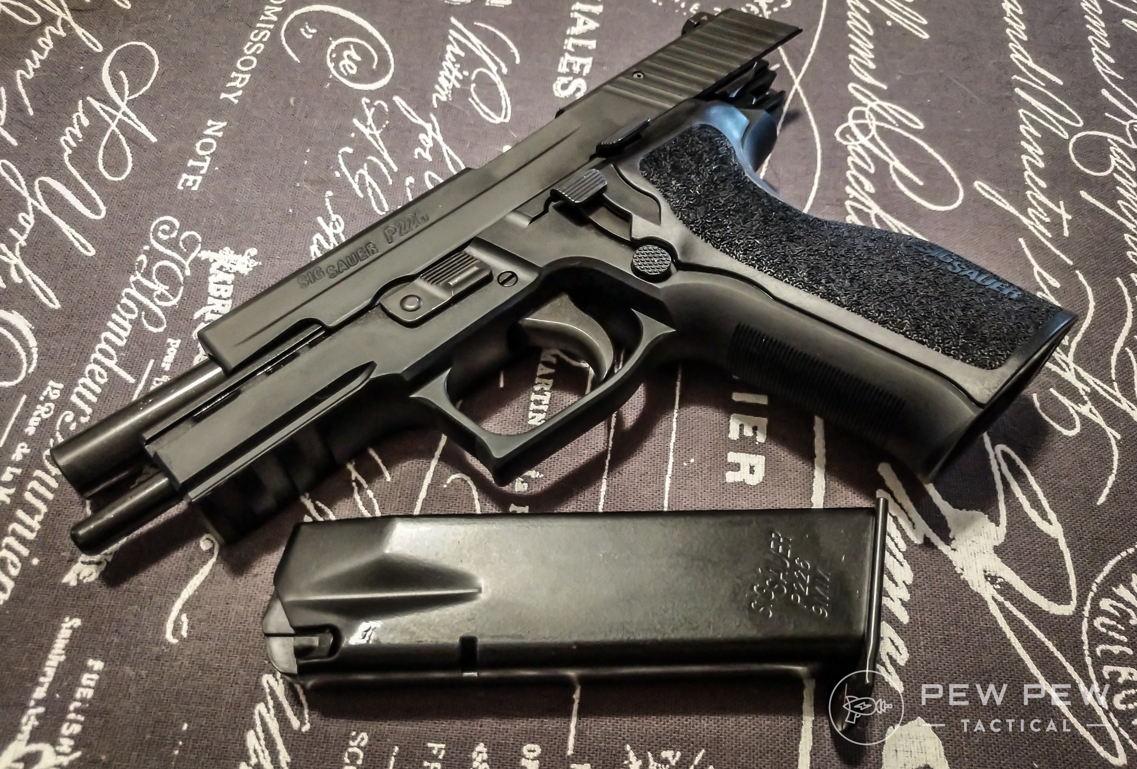 If you're looking for a hammer-fired pistol and/or a double-action/single-action, check out the SIG P226 Legion. It's an awesomely precise gun.