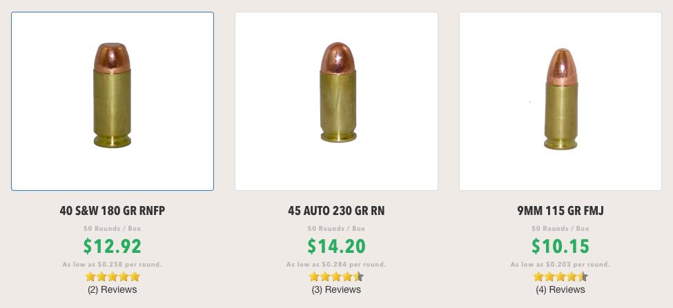 Handgun Ammo Prices