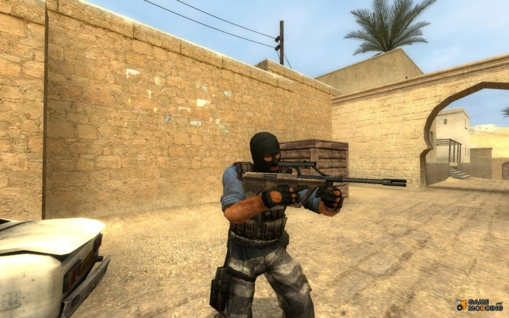 Steyr Aug in Counterstrike, Game Modding