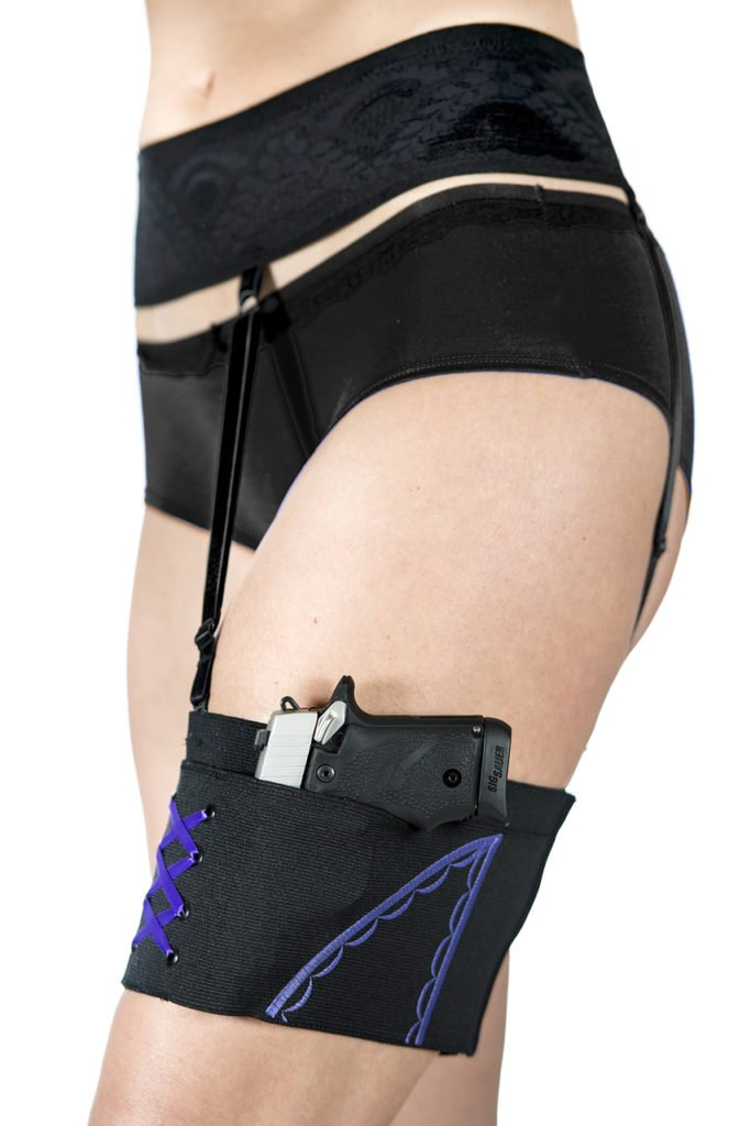 Thigh Holster with Garter
