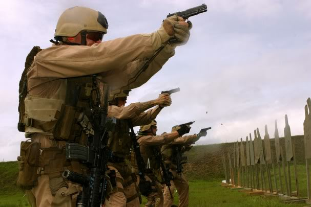 Marines with 1911's