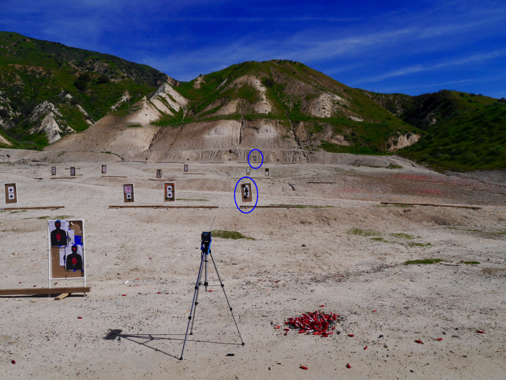 Testing with Chrono and 25 and 100 Yards