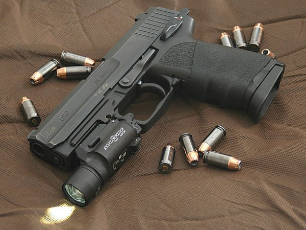 HK45 USP with mounted light