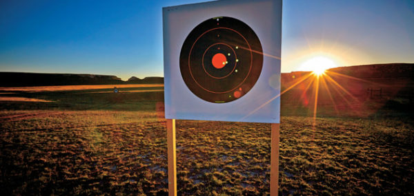 Long range shooting target