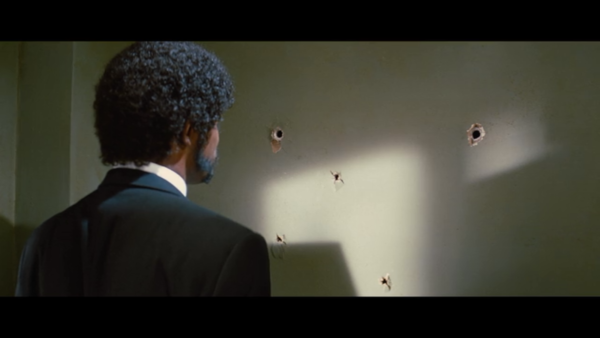 Pulp fiction bullet holes