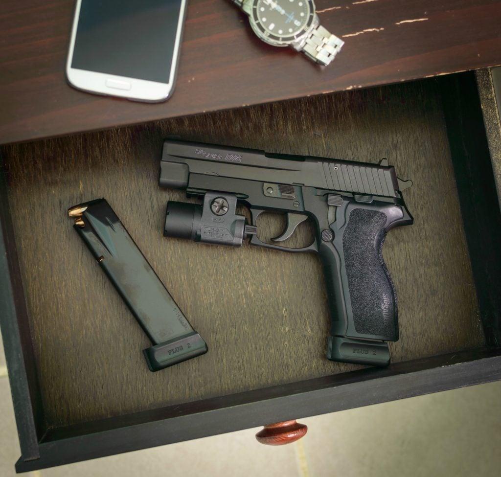 gun in nightstand