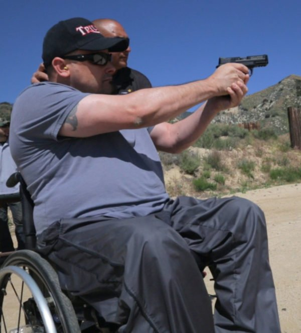shooting from wheelchair