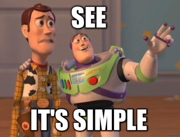 simple buzz lightyear meme