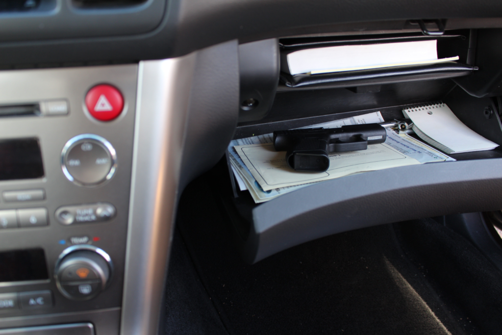 gun in glove compartment