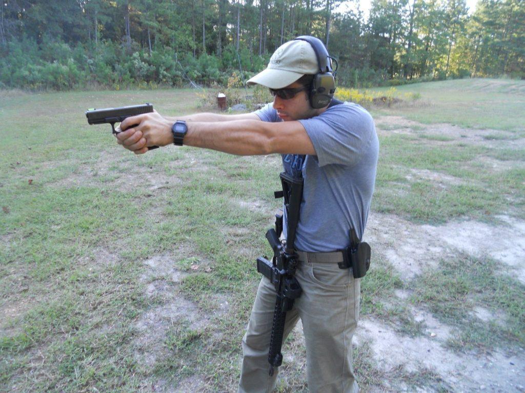 3gun pistol shooting