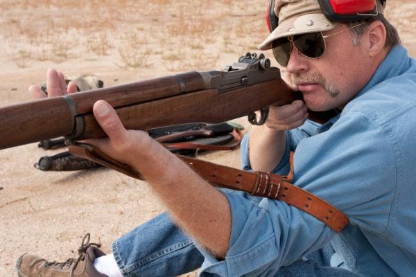 shooting rifle with sling