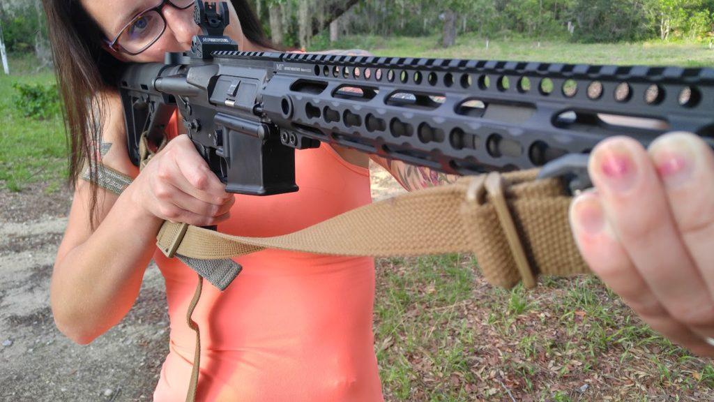 sniper sling shooting