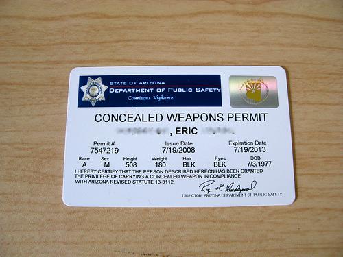 Arizona concealed weapons permit