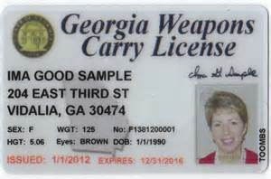 Georgia carry license