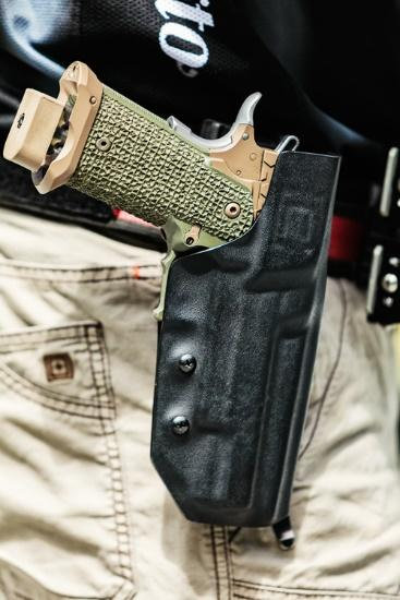3 gun holster with pistol
