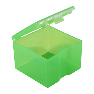 Small green plastic bullet box