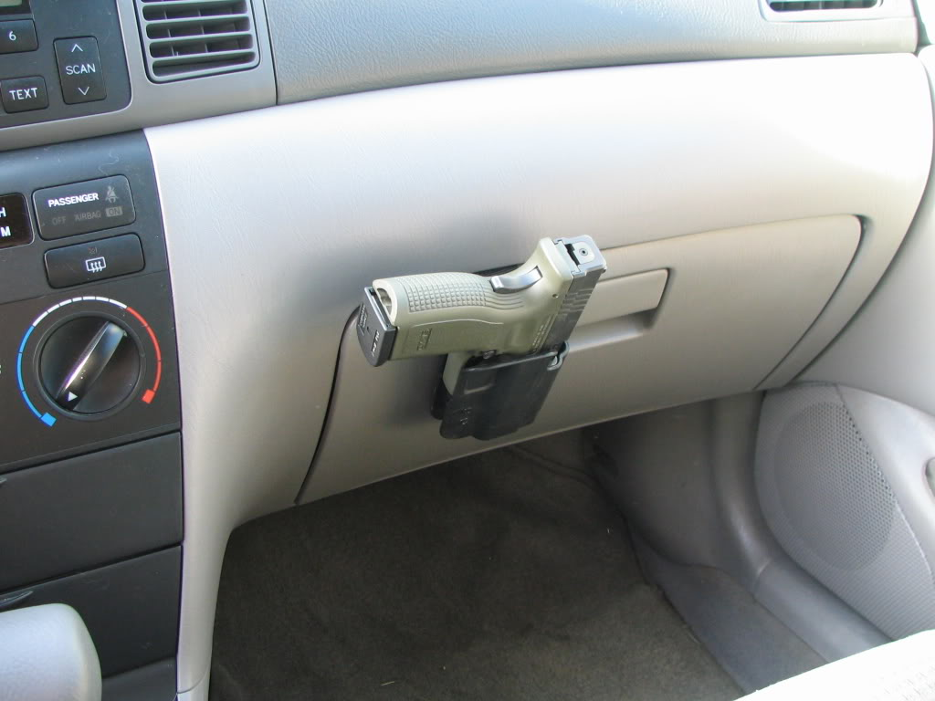 External glove box holster