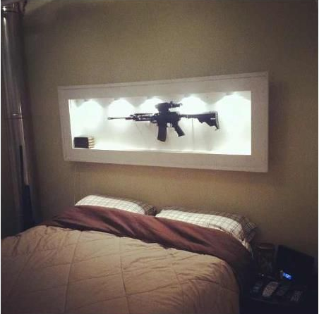 Over bed gun display