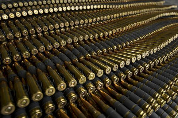 Rows of cartridges