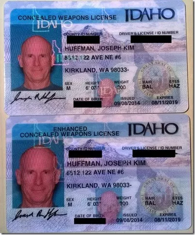 Two types of concealed weapons licenses in Idaho