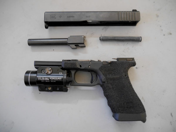 disassembled Glock